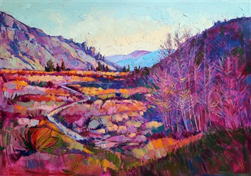Sierra Shadow, modern oil painting abstract impressionist painting by Erin Hanson