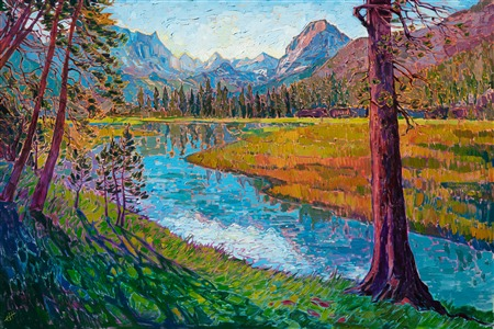 Sierra Reflections, original oil painting by Erin Hanson