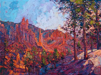 Bryce Canyon desert landscape dramatic modern oil painting by Erin Hanson