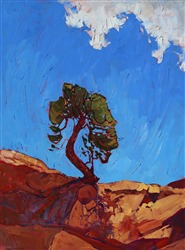 Canyonlands National Park desertscape painting by alla prima oil painter Erin Hanson