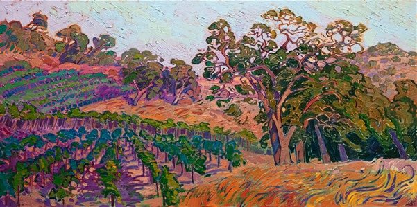 Napa wine country oil painting landscape for sale by Erin Hanson