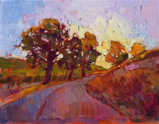 Modern impressionist oil painting of Paso Robles, California