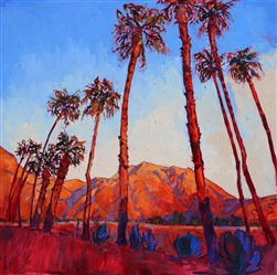 Borrego Springs oil painting landscape by Erin Hanson
