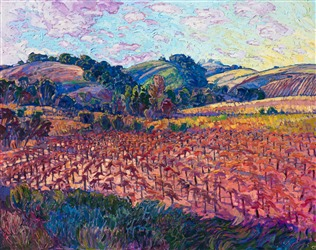 California vineyards wine country oil painting artwork for sale by artist