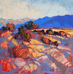 Rays of Borrego, contemporary abstracted landscape painting by Erin Hanson