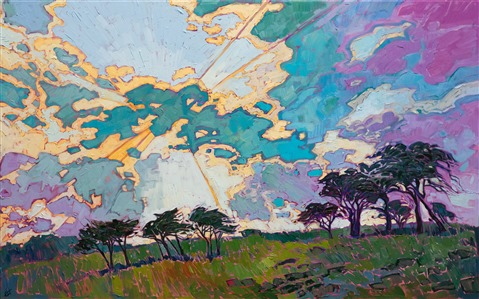 Texas hill country cloudscape by modern impressionist Erin Hanson.