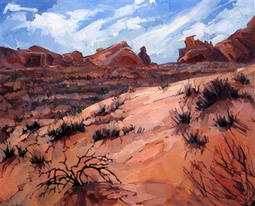 Valley of Fire landscape oil painting by Erin Hanson