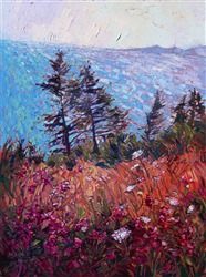 Northwest wildflower landscape painting in a modern expressionist style