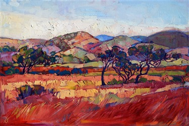 California wine country oil painting landscape by Erin Hanson