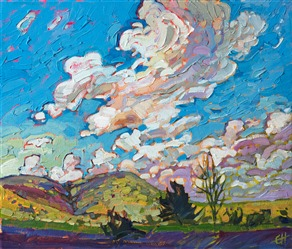 Big Bend Museum oil painting by modern impressionist Erin Hanson.