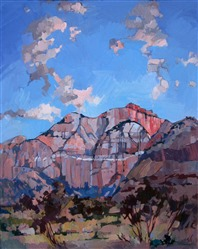 Sunset at Zion, impressionist oil painting by Erin Hanson