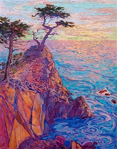 Carmel Lone Pine original oil painting for sale by California impressionist Erin Hanson