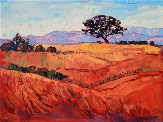 Paso Robles summer colors landscape oil painting by Erin Hanson