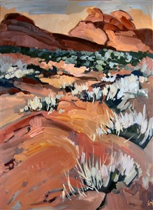 Valley of Fire, oil painting landscape by Erin Hanson
