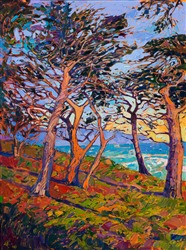 17-mile drive inspirational oil painting for locals