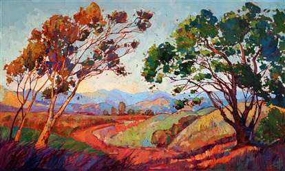 Contemporary California impressionism oil painting by Erin Hanson