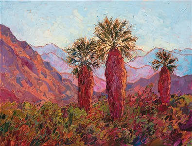 Impressionistic oil painting of Borrego Springs by artist Erin Hanson