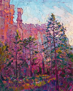 Bryce Canyon landscape oil painting in a modern impressionist style