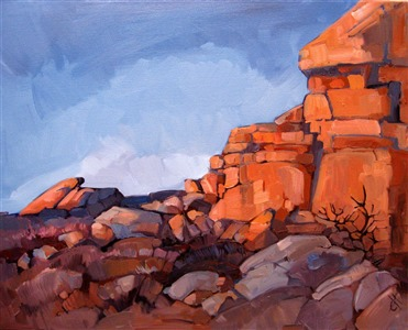 Joshua Rock, oil painting landscape by Erin Hanson