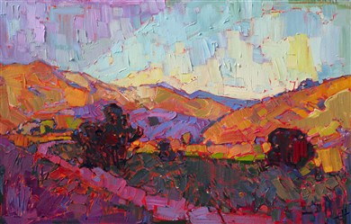 A contemporary style of painting known as Open Impressionism, pioneered by Erin Hanson