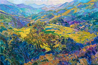 Carmel Valley landscape oil painting in a contemporary impressionistic style.