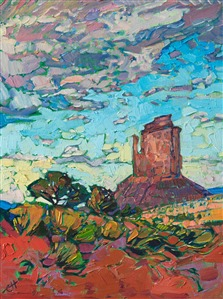 Monument Valley painting of the four corners region, by contemporary Western artist Erin Hanson
