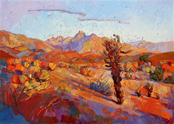 Bold colors capture California Desert in a dramatic oil painting by Erin Hanson