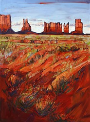 Monument Valley expressionistic oil painting by Erin Hanson