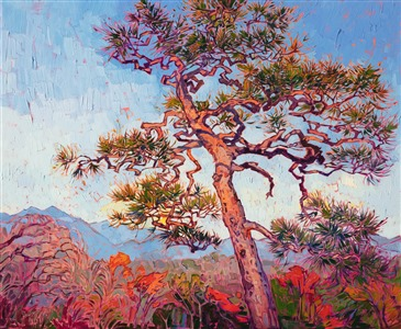 Impressionist painting of Kyoto Japan, by artist Erin Hanson