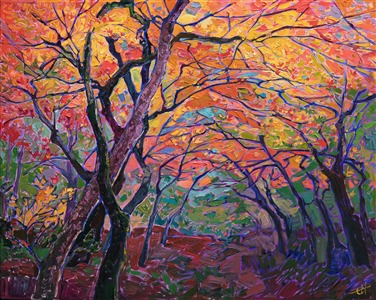 Autumn fall colors painted by modern impressionist Erin Hanson.