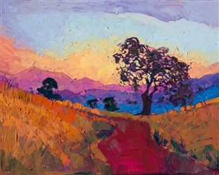 Paso Robles wine country oil painting for sale by Erin Hanson