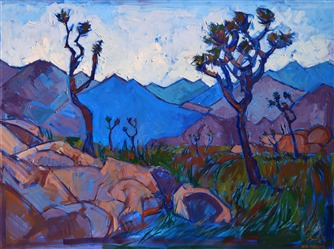 Joshua Tree rock climbing inspired artwork, by local painter Erin Hanson