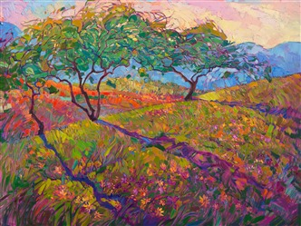 Wildflower Collection, original oils on canvas by impressionist painter Erin Hanson