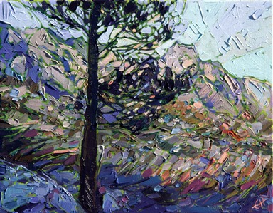 Modern impressionist landscape painting of California National Parks, by Erin Hanson