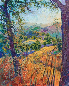 Paso Robles Adelaida winery landscape by moden impressionism painter Erin Hanson.