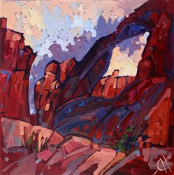 Valley of Fire state park, expressionism oil painting by Erin Hanson