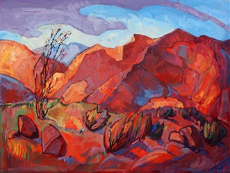 Borrego Springs original oil painting by landscape artist Erin Hanson