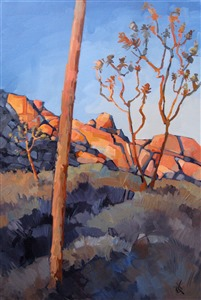 Joshua Light, desert oil painting by Erin Hanson