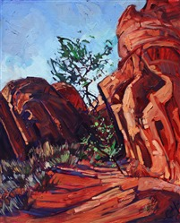 Valley of Fire red rock desert oil painting by Erin Hanson