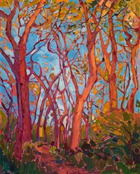 Purchase small colorful oil paintings in a contemporary expressionism style, by Erin Hanson