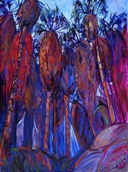 Palm Oasis, original oil painting by Erin Hanson