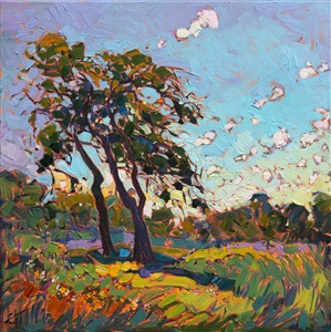 Wildflower landscape painting by contemporary impressionism painter Erin Hanson