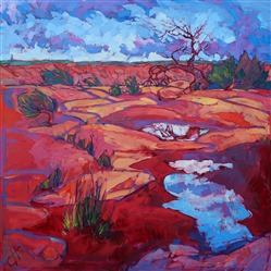 Canyon de Chelly original oil painting by modern impressionist Erin Hanson