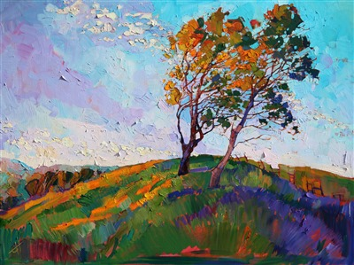Brilliant color and bold texture, created in traditional oils by Erin Hanson