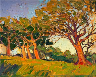 Modern impressionist landscape oil painting by Erin Hanson