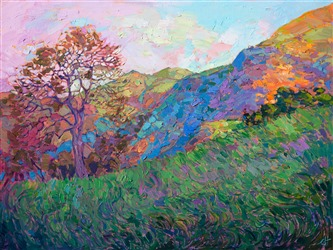 California impressionist painting of Paso Robles, by modern impressionist Erin Hanson.