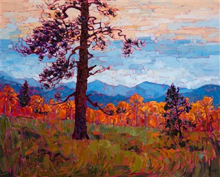 Utah impressionism landscape oil painting by Erin Hanson.
