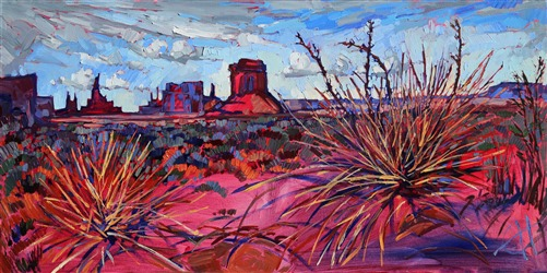 Monument Valley four corners oil painting landscape by Erin Hanson