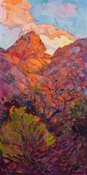 Contemporary impressionist painting on display at the St George Art Museum in Utah.