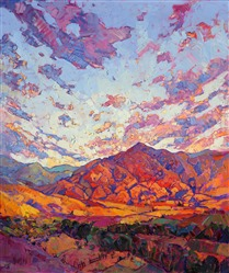 Boise Idaho dramatic colorful painting of the northwest, by contemporary impressionist Erin Hanson